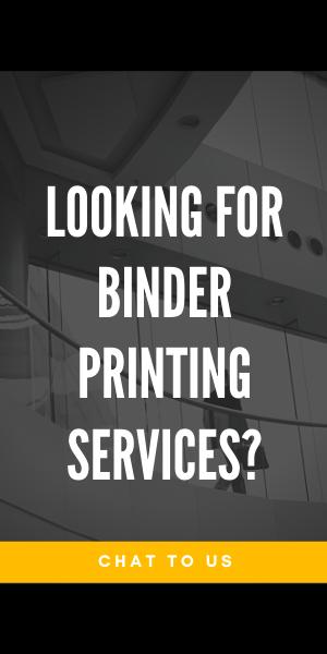 Binder printing service